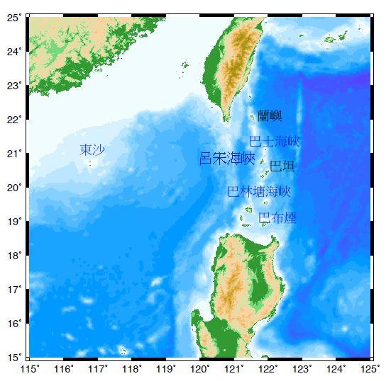海底地形),这是南海与西菲律宾海之间最深的一条通道,也是太平洋深层